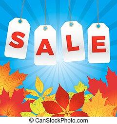autunno, vendita, fondo