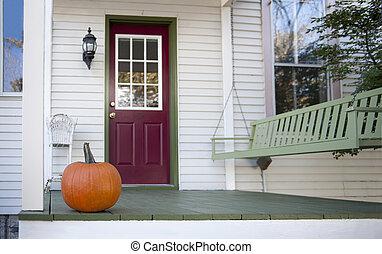 autunno, veranda