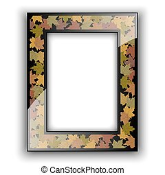 autunno, vetro, foto, frame., design.