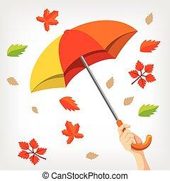 autunno, vettore, illustrazione