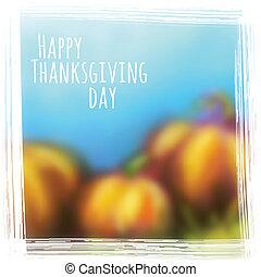 autunno, vettore, ringraziamento, fondo, giorno