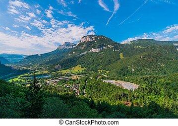 Auvergne Rhone Alpes Region. Magland Commune in Haute-Savoie...