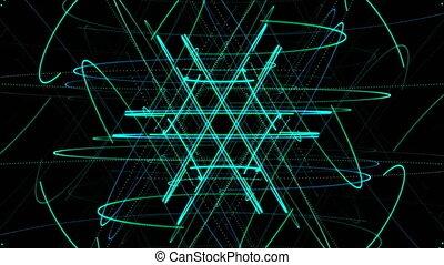 aux, particule, vidéo, étoile, fond