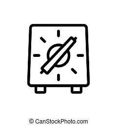 auxiliary hotplate icon vector. auxiliary hotplate sign. isolated contour symbol illustration