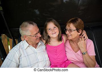 avós, com, neto