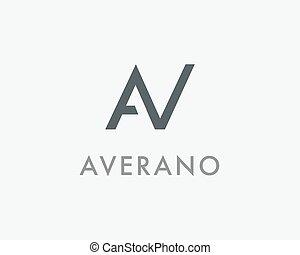 AV Letter Monogram Logo