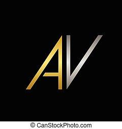 AV letters logo
