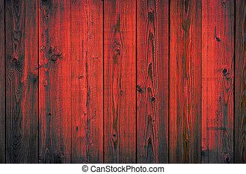 av, målad, skalande, struktur, trä, bakgrund, plankor, röd