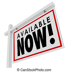 Available Now Real Estate New Home Listing House For Sale Sign