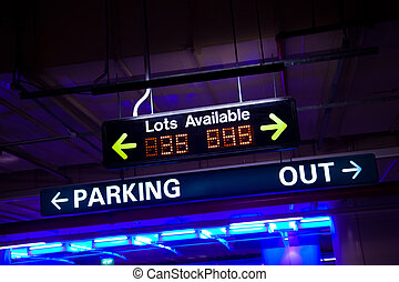 Available Parking - Available parking neon sign inside a...