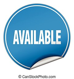available round blue sticker isolated on white