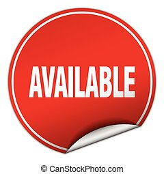 available round red sticker isolated on white