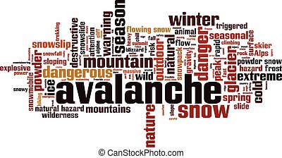 Avalanche [Converted].eps - Avalanche word cloud concept....