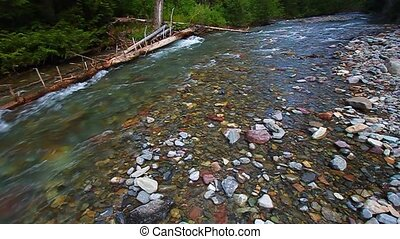 Avalanche Creek Rapids Montana - Rapids of Avalanche Creek...