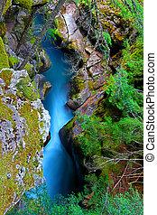 Avalanche Creek Waterfall Montana