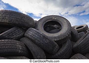 avalanche, de, antigas, pneus