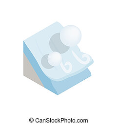 Avalanche icon, isometric 3d style - Avalanche icon in...