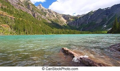 Avalanche Lake in Glacier NP - Beautifully colored waters of...