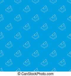 Avalanche pattern seamless blue repeat for any use