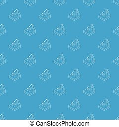Avalanche pattern vector seamless blue repeat for any use