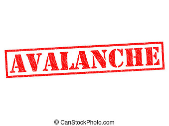 AVALANCHE red Rubber Stamp over a white background.