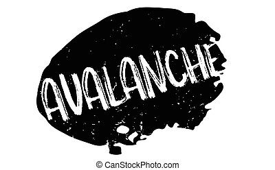 Avalanche rubber stamp. Grunge design with dust scratches....