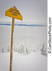 avalanche, sinal perigo