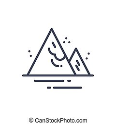 Avalanche Weather Icon Climate Forecast Concept Vector...