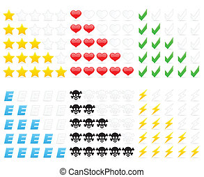 avaliação, ícones