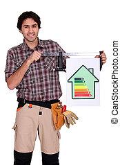 avaliação, energia, mostra, artesão, casa