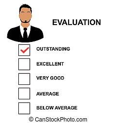 avaliação, forma