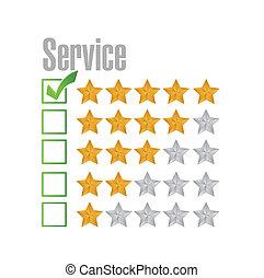 avaliação, grande, desenho, serviço, ilustração