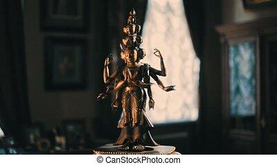 Avalokiteshvara bronze statuette - Bronze Avalokitesvara...