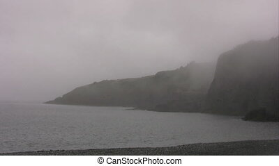 Avalon Peninsula under fog