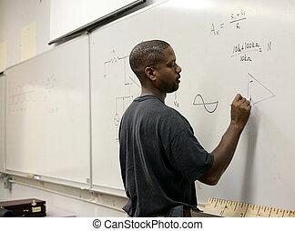 avançado, matemática, estudante