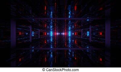 avance, boucle, souterrain, lumière, vj, faire boucle, 3d, uhd, 4k, sombre, rendre