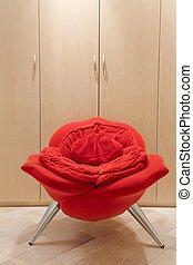 Avant-garde armchair in rose shape - Vertical image of avant...