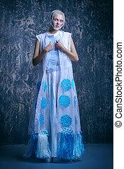 avant-garde female style - Female beauty, fashion. Full ...