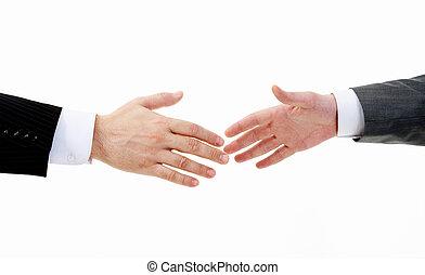 avant, poignée main