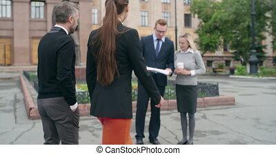 avant, travail, réunion