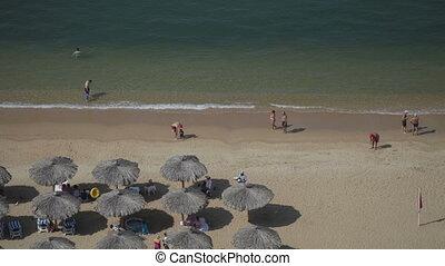avantage, coup, point, mexico., timelapse, élevé, plage, acapulco
