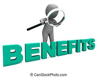 avantages, caractère, moyens, petits profits, faveurs, ou,...