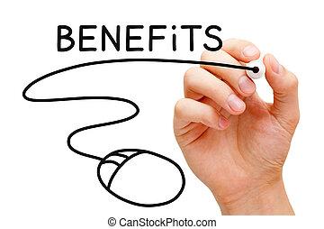 avantages, concept, souris