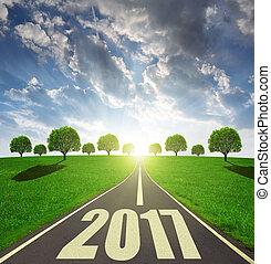 avanti, a, il, anno nuovo, 2017