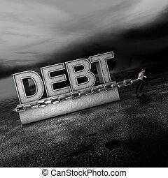 avanti, debt:, andare, mercati, peso