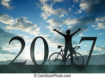 avanti, nuovo, 2017, anno