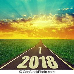 avanti, nuovo, 2018, anno