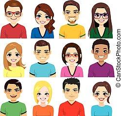 avatar, コレクション, 人々