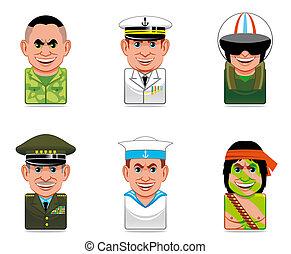 avatar, 人們, 圖象, (army)