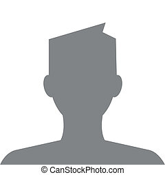 avatar, 外形, 現代, 頭髮, 灰色, 顏色